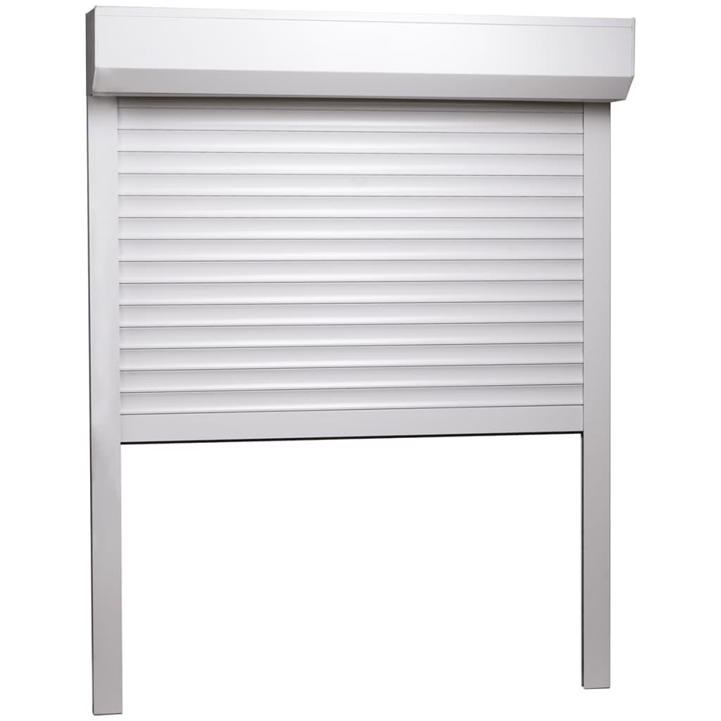 vidaXL Rolluik 130x140 cm aluminium wit