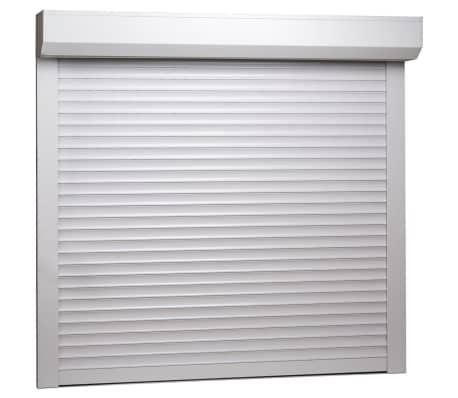 vidaXL Persiana enrollable aluminio blanca 160x150 cm