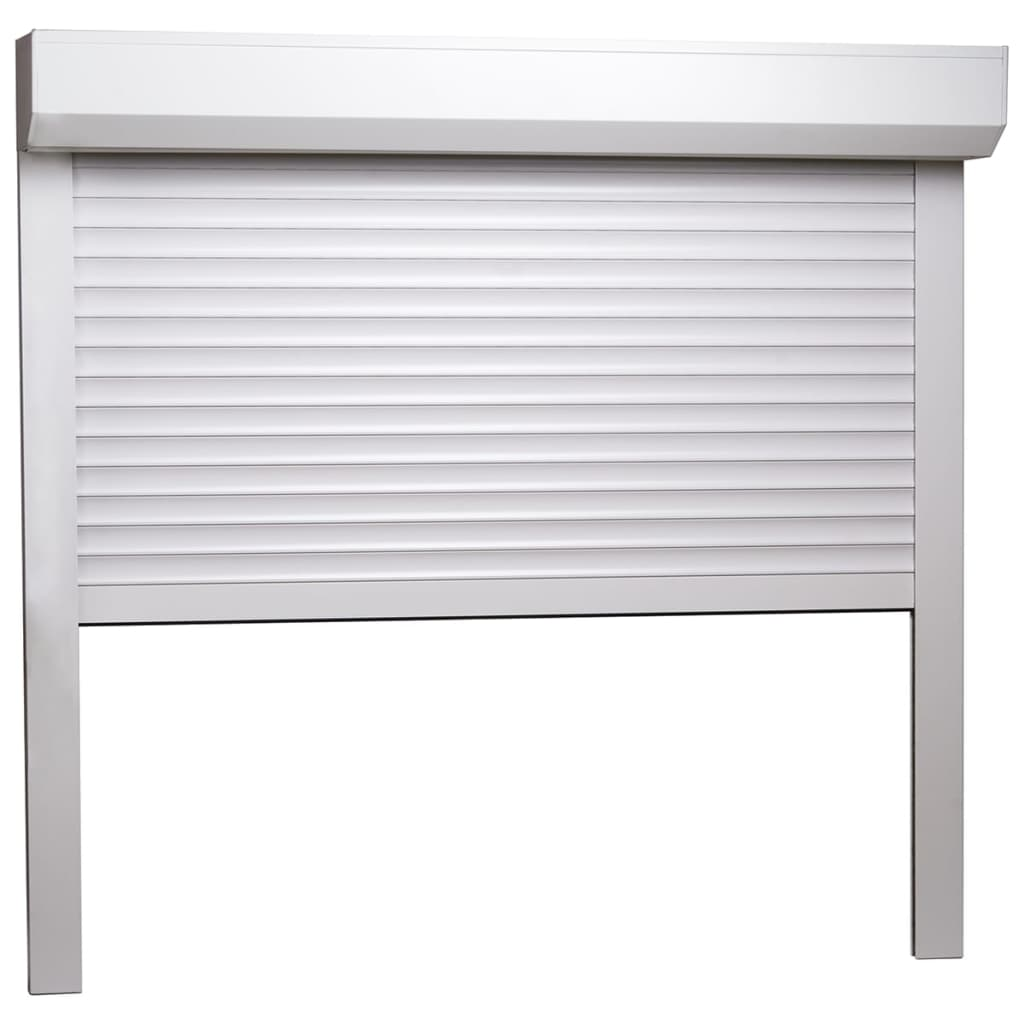 vidaXL Rolluik 160x150 cm aluminium wit