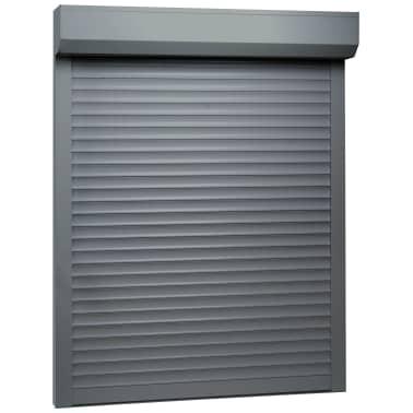 vidaXL Persiana enrollable aluminio gris antracita 70x100 cm[1/4]
