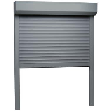 vidaXL Persiana enrollable aluminio gris antracita 70x100 cm[2/4]