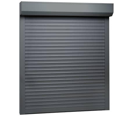 vidaXL Rulljalusi aluminium 80x100 cm antracit