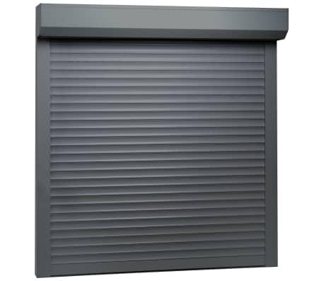 vidaXL rulleskodder aluminium 100 x 100 cm antracitgrå