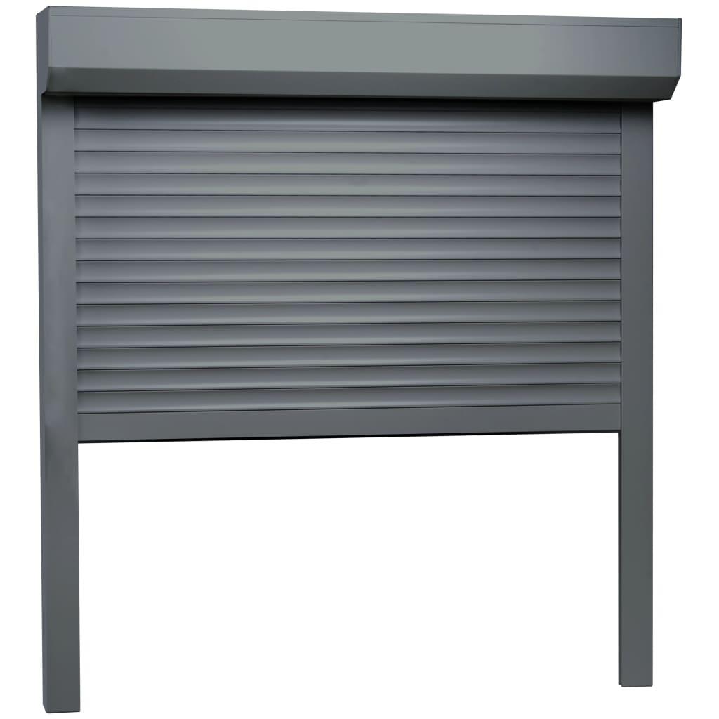 vidaXL Rolluik 100x100 cm aluminium antraciet