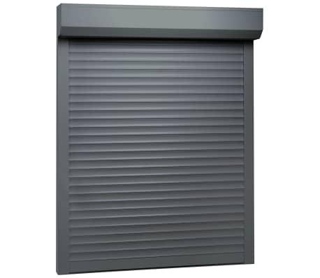 vidaXL Rulleskodde aluminium 110x130 cm antrasitt