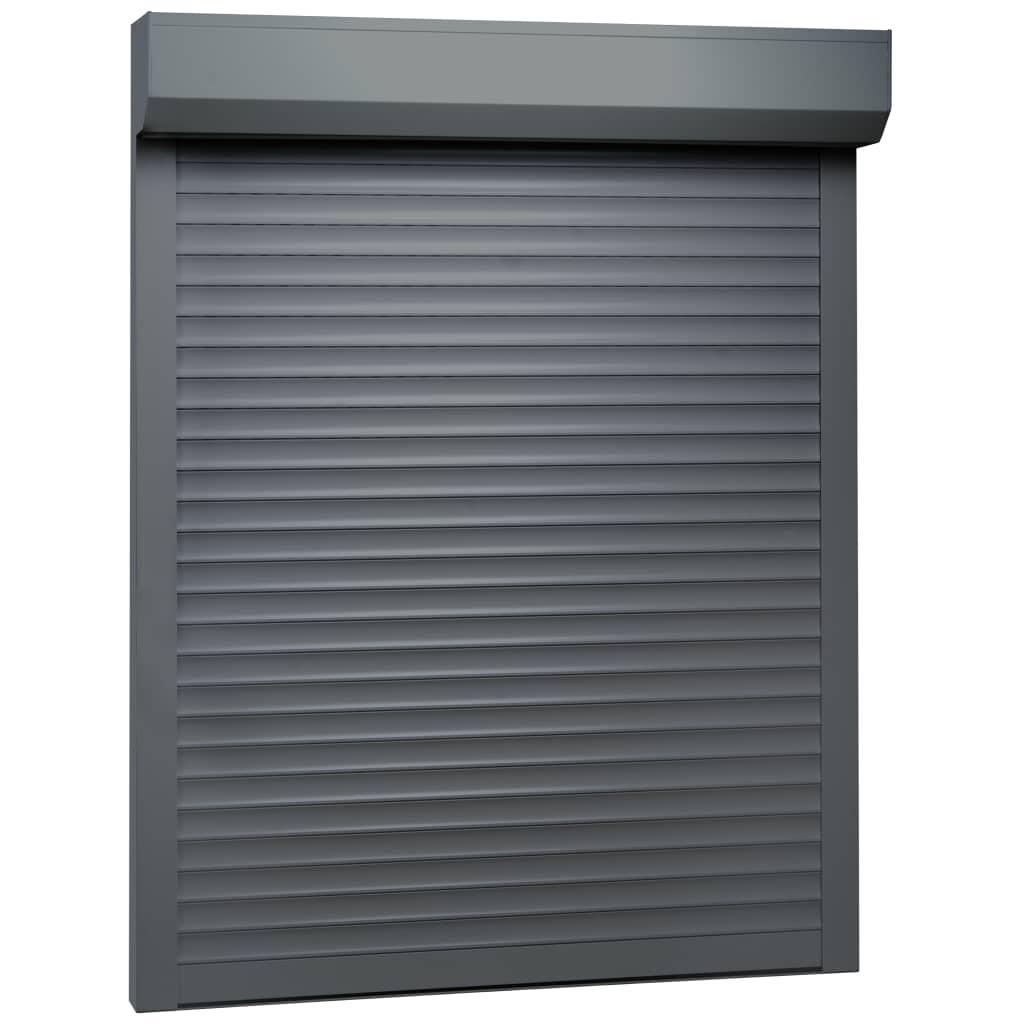 vidaXL Rolluik 120x150 cm aluminium antraciet