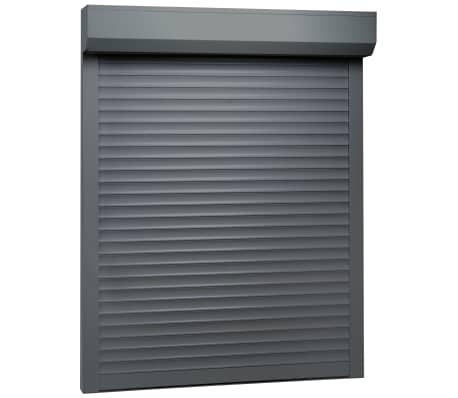 vidaXL Rulleskodde aluminium 120x150 cm antrasitt