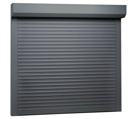 vidaXL Rulljalusi aluminium 160x150 cm antracit