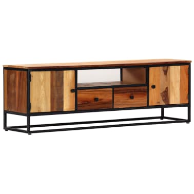 vidaXL Tv-meubel 120x30x40 cm massief gerecycled hout en staal[1/14]