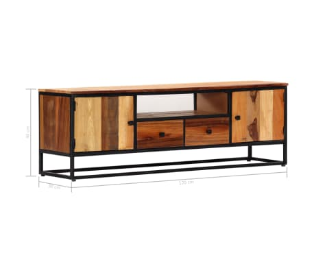 vidaXL Tv-meubel 120x30x40 cm massief gerecycled hout en staal[11/14]