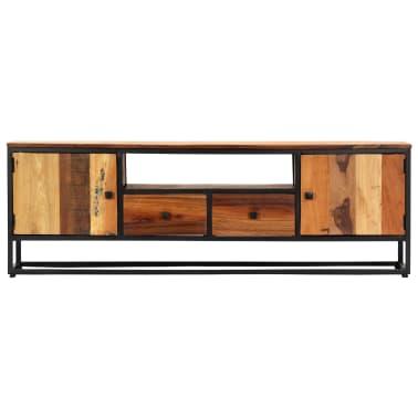 vidaXL Tv-meubel 120x30x40 cm massief gerecycled hout en staal[3/14]