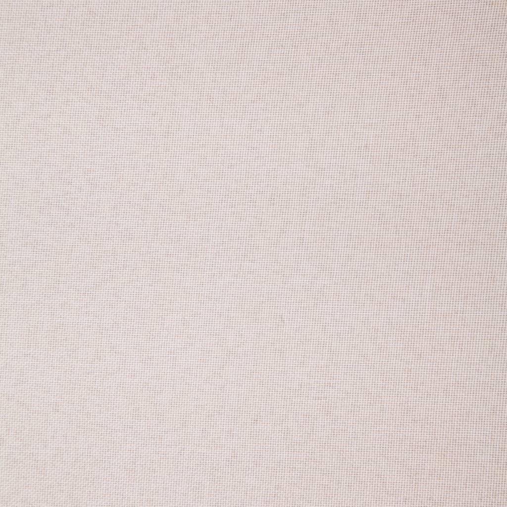 vidaXL 2-delig Bankstel stof crème