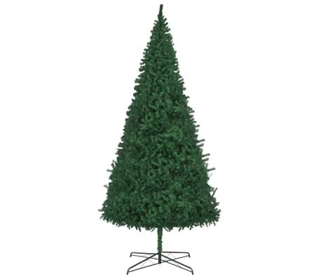 vidaXL mākslīgā Ziemassvētku egle, 400 cm, zaļa -picture