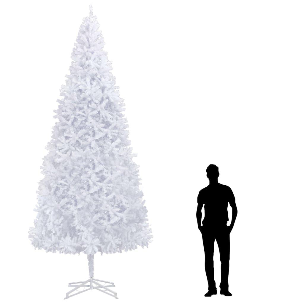 vidaXL Brad de Crăciun artificial, alb, 400 cm vidaxl.ro