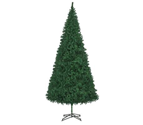 vidaXL Изкуствено коледно дърво, 500 см, зелено