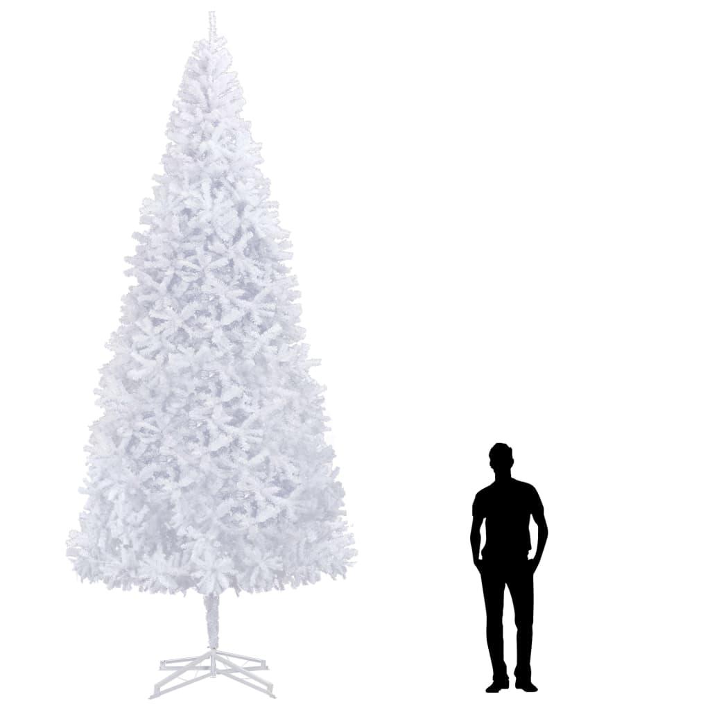 vidaXL Brad de Crăciun artificial, alb, 500 cm vidaxl.ro