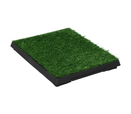 vidaXL Pet Toilet with Tray and Artificial Turf Green 63x50x7 cm WC