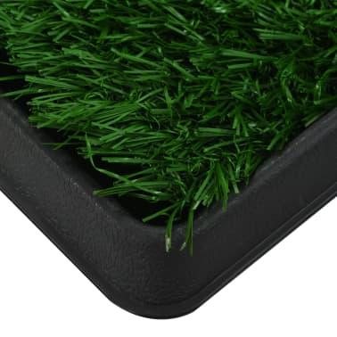 vidaXL Toilette pour animaux avec plateau et gazon artificiel Vert WC[6/9]