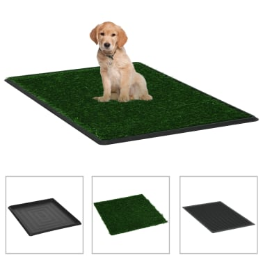vidaXL Toilette pour animaux avec plateau et gazon artificiel Vert WC[1/9]