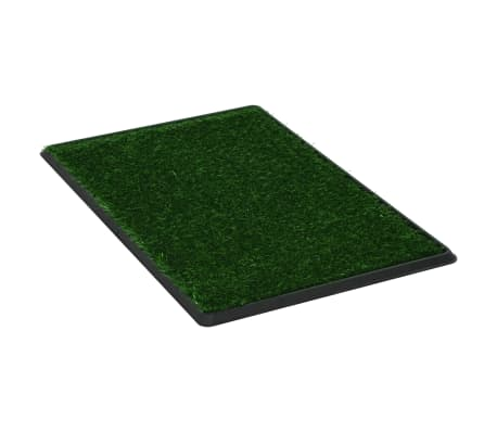vidaXL Pet Toilet with Tray and Artificial Turf Green 76x51x3 cm WC