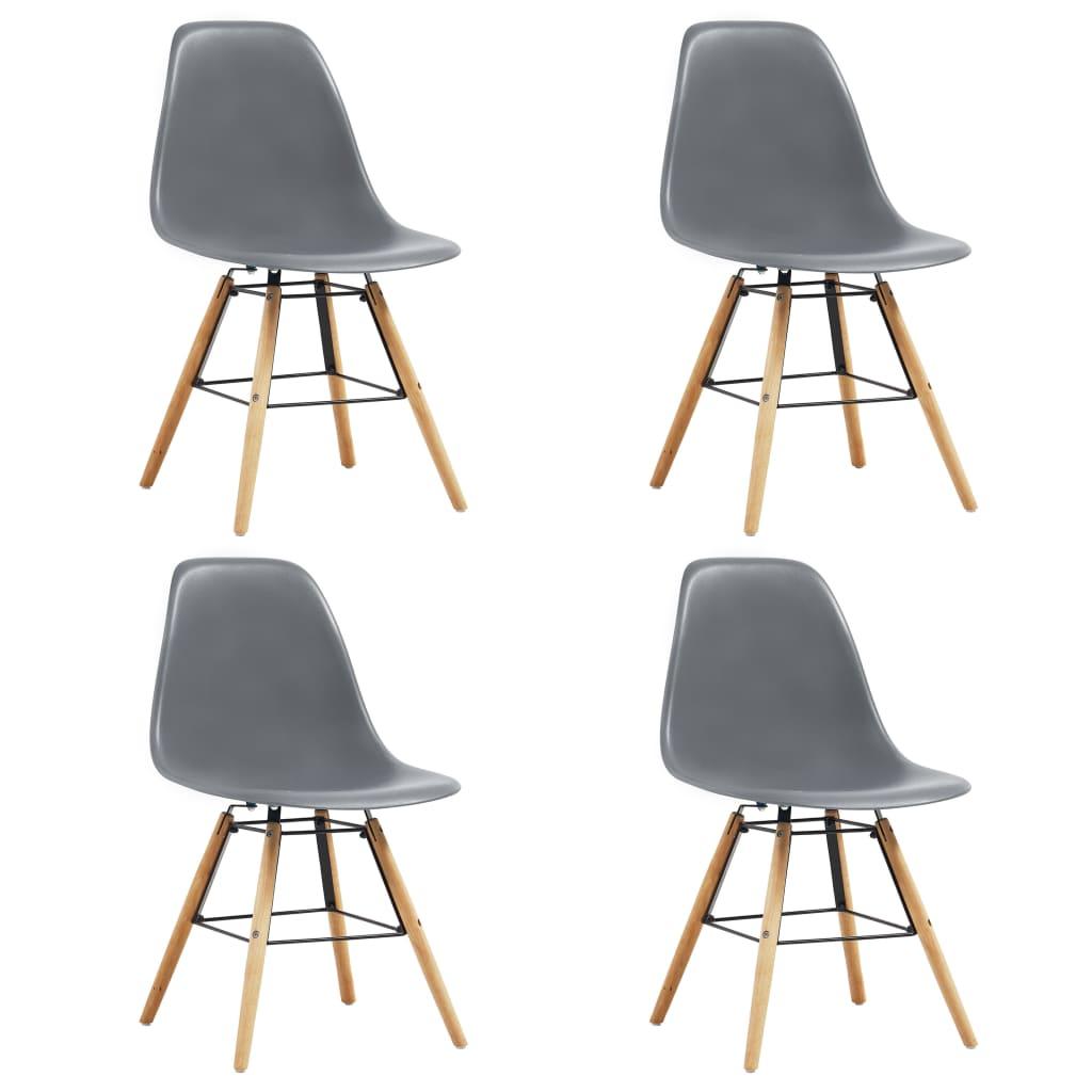 vidaXL Καρέκλες Τραπεζαρίας 4 τεμ. Γκρι