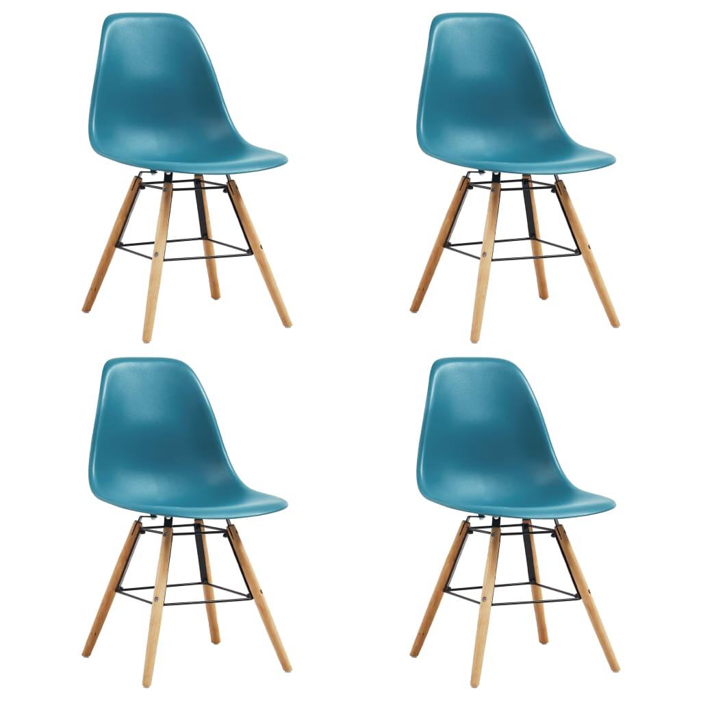 vidaXL Καρέκλες Τραπεζαρίας 4 τεμ. Τιρκουάζ