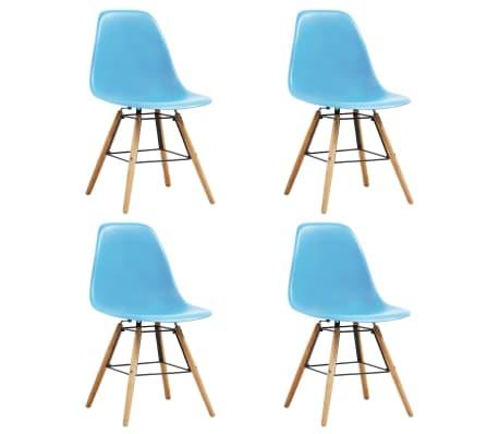 vidaXL Dining Chairs 4 pcs Blue Plastic