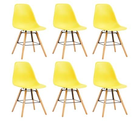 vidaXL Dining Chairs 6 pcs Yellow Plastic