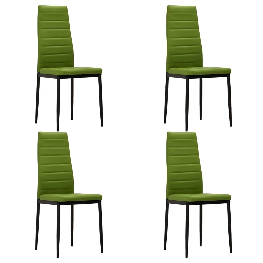 vidaXL Καρέκλες Τραπεζαρίας 4 τεμ. Λαχανί από Συνθετικό Δέρμα