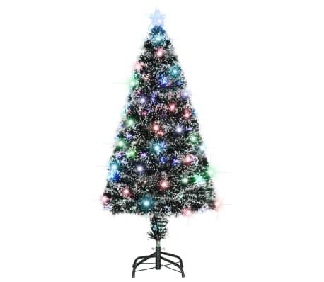 vidaXL Kunstig juletre med stativ/LED 120 cm 135 grener