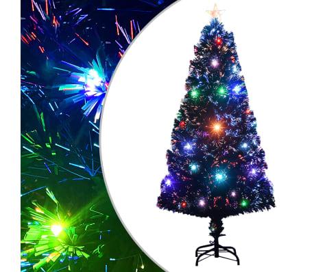 vidaXL Umelý vianočný stromček s podstavcom a LED 120 cm 135 vetvičiek