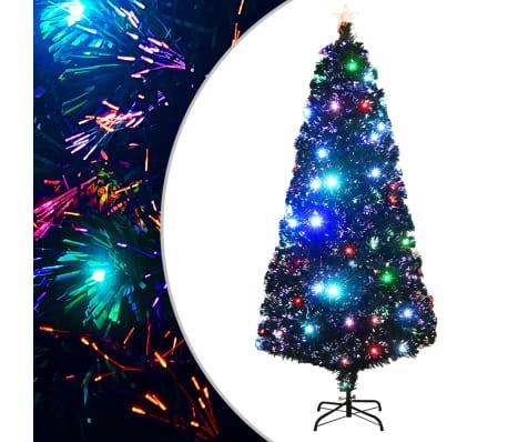 vidaXL Künstlicher Weihnachtsbaum mit Ständer + LED 180 cm 220 Zweige