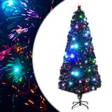 vidaXL Kunstkerstboom met standaard/LED 210 cm 280 takken