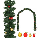 vidaXL Julgirlang med julgranskulor 5 m