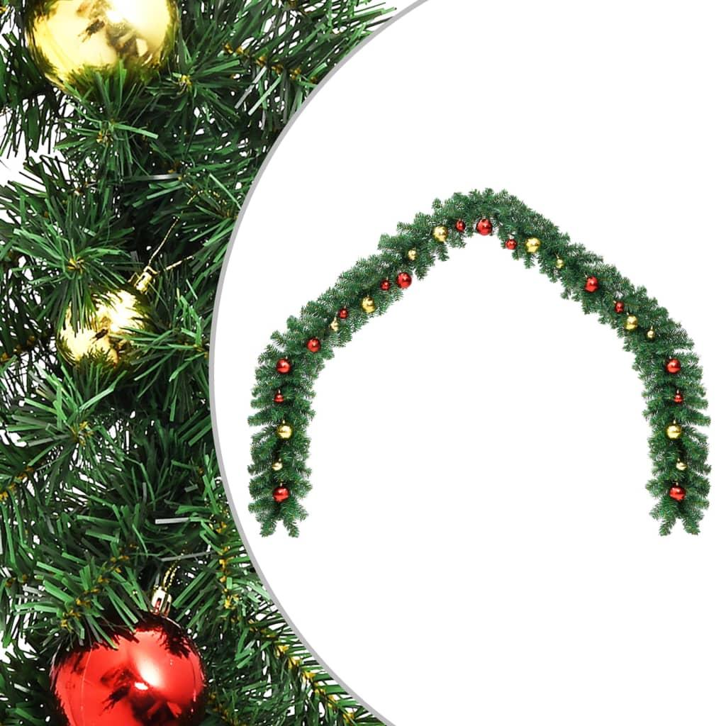 vidaXL Ghirlandă de Crăciun decorată cu globuri, 10 m imagine vidaxl.ro