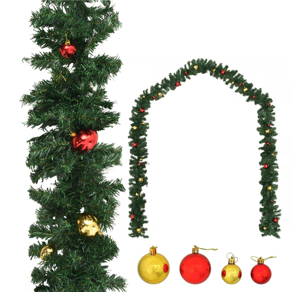 vidaXL Ghirlandă de Crăciun decorată cu globuri, 20 m imagine vidaxl.ro