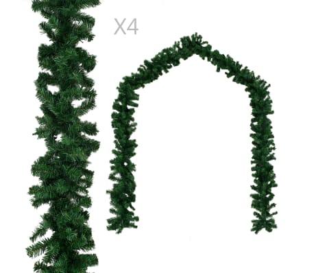 vidaXL Kerstslingers 4 st 270 cm PVC groen
