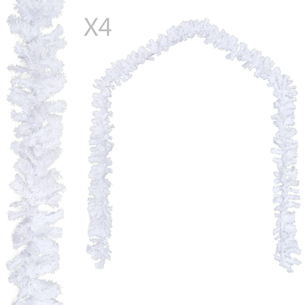vidaXL Ghirlande de Crăciun, 4 buc., alb, 270 cm, PVC vidaxl.ro