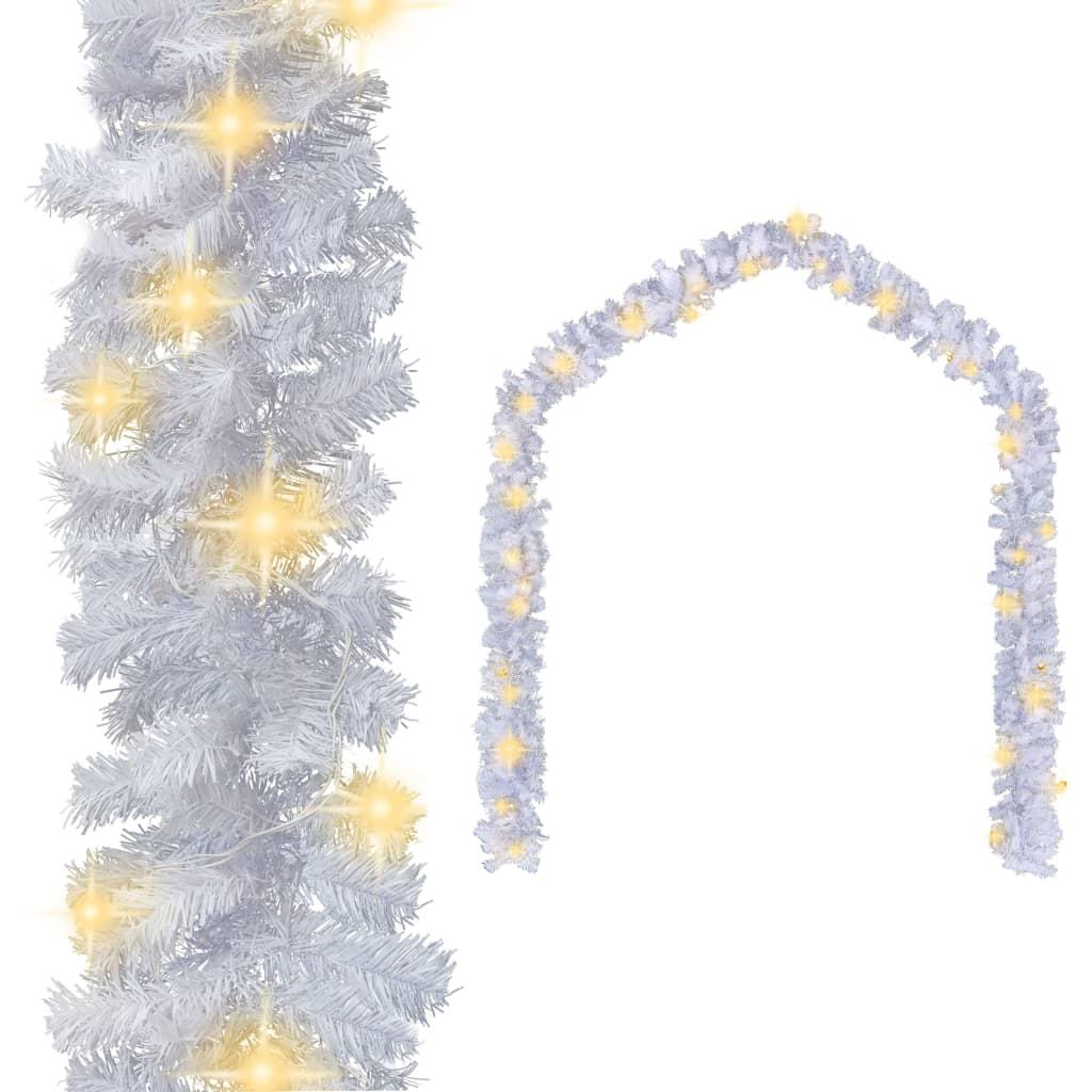 242424 Ghirlandă de Crăciun cu becuri LED, alb, 10 m vidaxl.ro