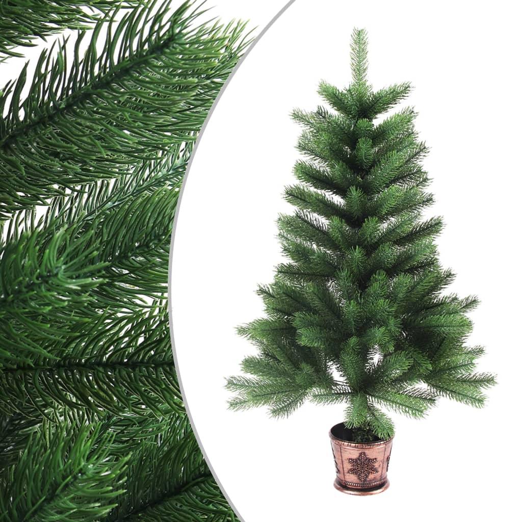 vidaXL Brad de Crăciun artificial, ace cu aspect natural, 65 cm, verde poza 2021 vidaXL