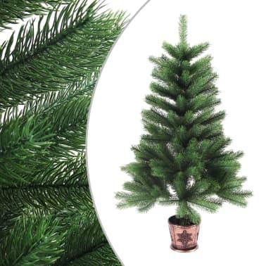 vidaXL Artificial Christmas Tree with Basket 65 cm Green[1/7]