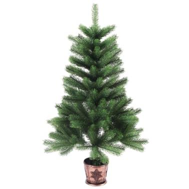 vidaXL Artificial Christmas Tree with Basket 65 cm Green[2/7]