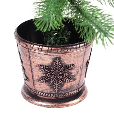 vidaXL Artificial Christmas Tree with Basket 65 cm Green[6/7]
