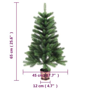 vidaXL Artificial Christmas Tree with Basket 65 cm Green[7/7]