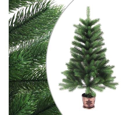 vidaXL Umělý vánoční strom s velmi realistickým jehličím 90 cm zelený
