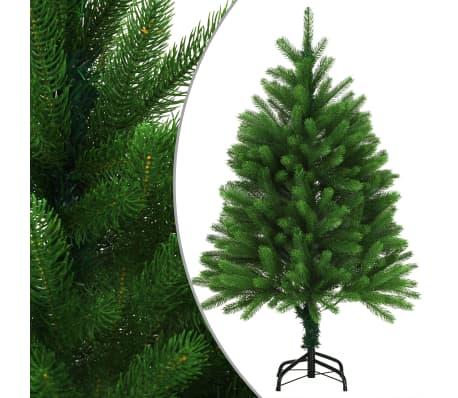 vidaXL Kunstkerstboom met levensechte naalden 120 cm groen
