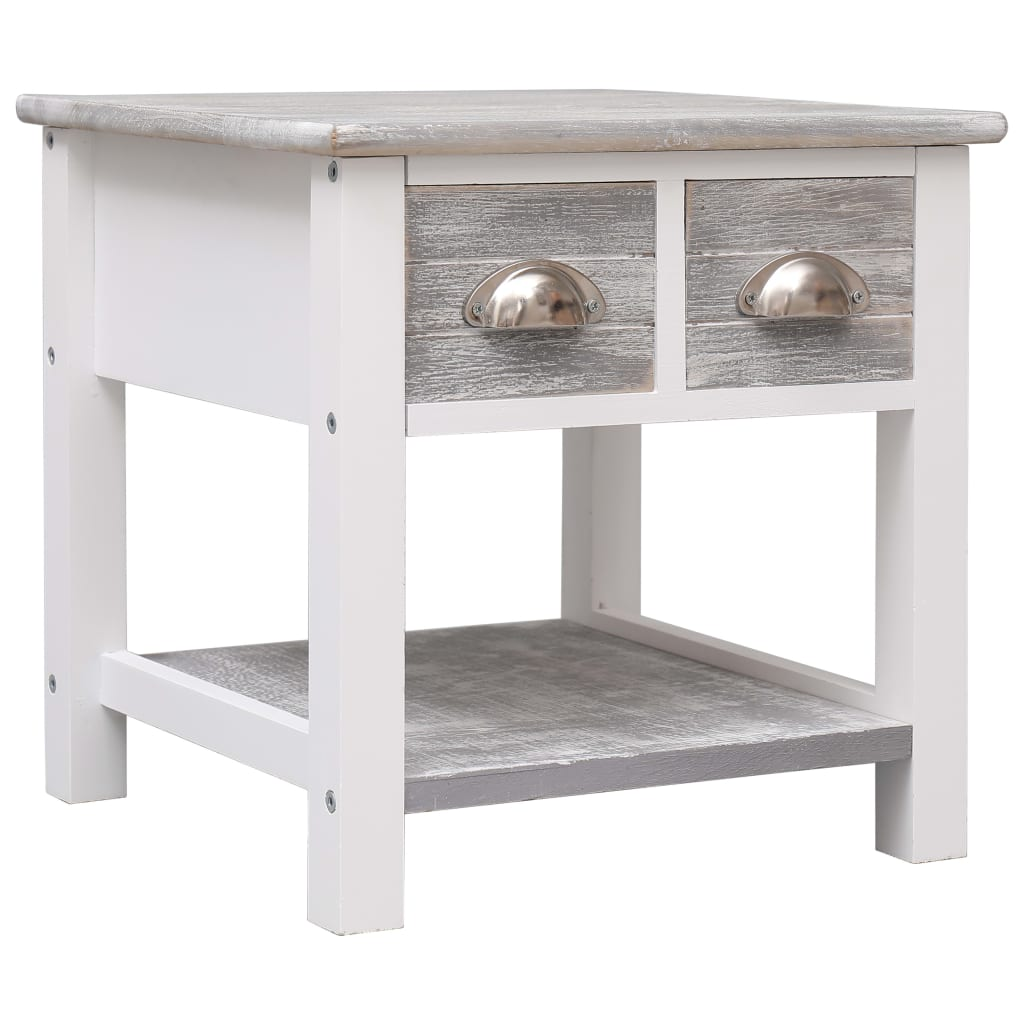 vidaXL Odkládací stolek šedý 40 x 40 x 40 cm dřevo pavlovnie