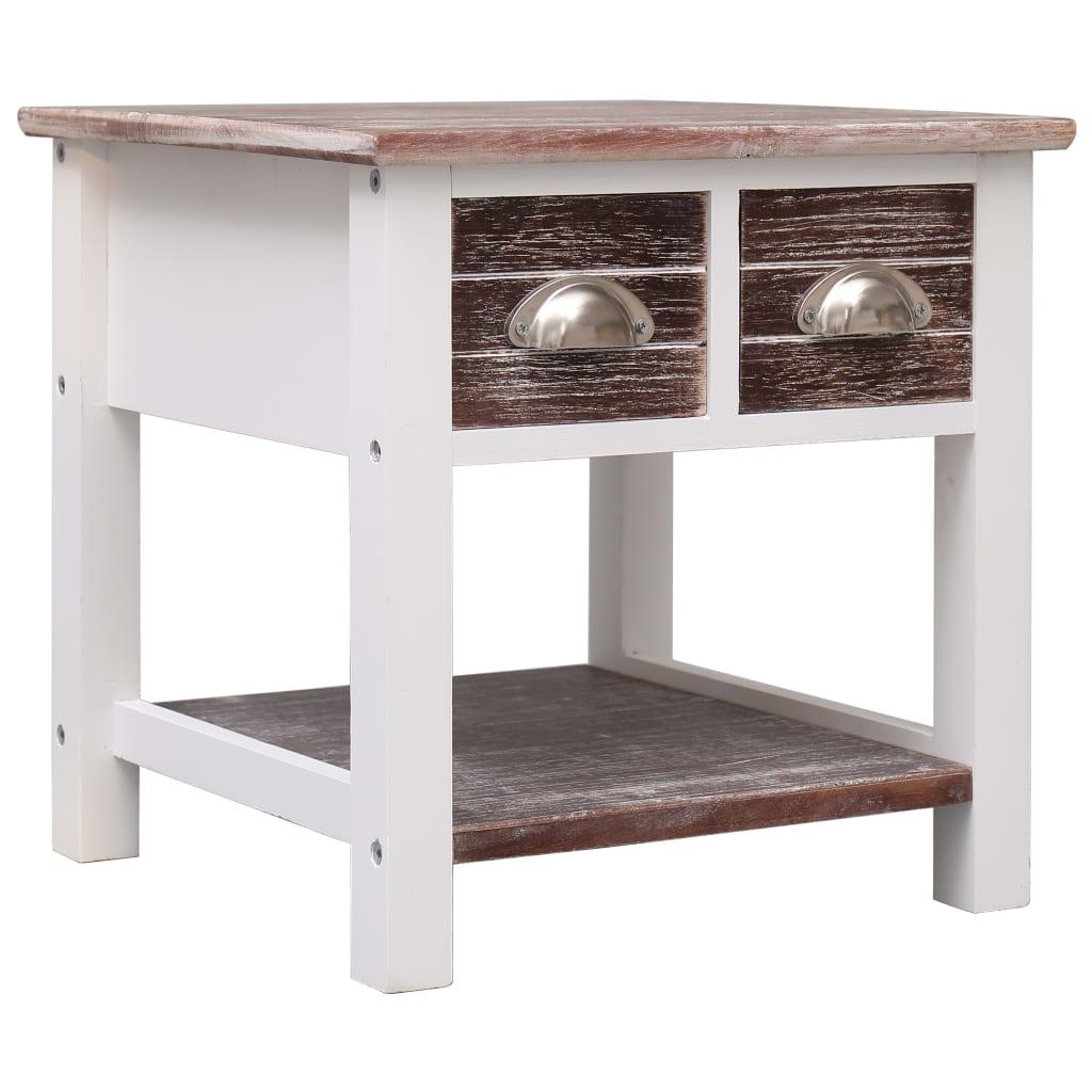 vidaXL Odkládací stolek hnědý 40 x 40 x 40 cm dřevo pavlovnie