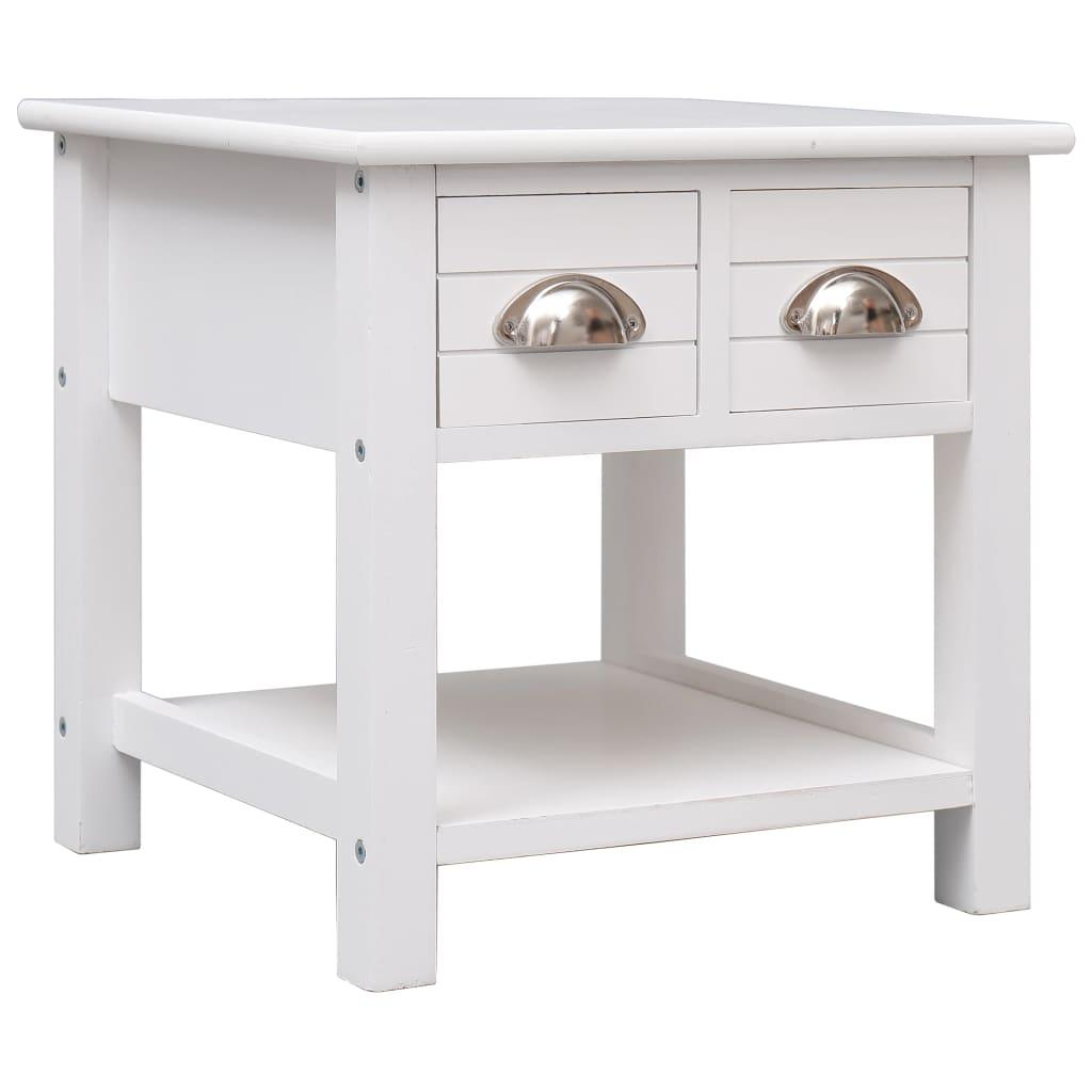 vidaXL Odkládací stolek bílý 40 x 40 x 40 cm dřevo pavlovnie
