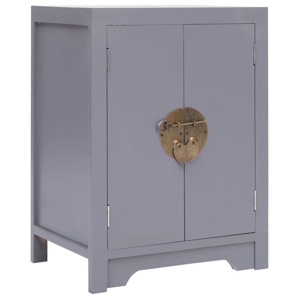 vidaXL Noční stolek šedý 38 x 28 x 52 cm dřevo pavlovnie